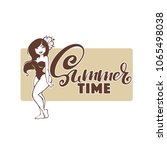 summer time  beach banner in... | Shutterstock .eps vector #1065498038