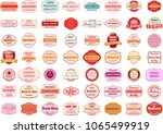 vector badge design set | Shutterstock .eps vector #1065499919