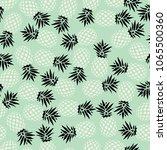 pineapple seamless pattern on...   Shutterstock .eps vector #1065500360