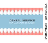 dental poster with frame of row ... | Shutterstock .eps vector #1065500366