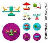 carousel  sandbox  park ... | Shutterstock .eps vector #1065500750
