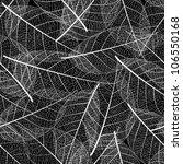 vector leaf seamless on black...   Shutterstock .eps vector #106550168