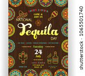 national tequila day announcing ... | Shutterstock .eps vector #1065501740