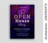 open house party invitation...   Shutterstock .eps vector #1065502973