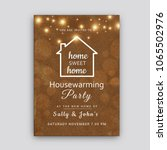 housewarming party invitation... | Shutterstock .eps vector #1065502976