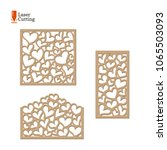 laser cut panels set. vector... | Shutterstock .eps vector #1065503093