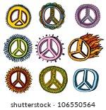 set of peace symbols | Shutterstock .eps vector #106550564