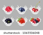 collection icons of fruit and... | Shutterstock .eps vector #1065506048