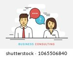 business consulting and... | Shutterstock .eps vector #1065506840