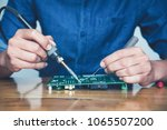 close up of the hand men hold... | Shutterstock . vector #1065507200