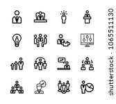 icons management with group ... | Shutterstock .eps vector #1065511130