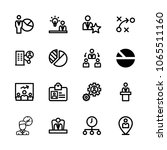 icons management with location  ... | Shutterstock .eps vector #1065511160