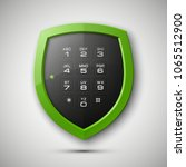 shield with electronic... | Shutterstock . vector #1065512900