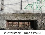 basement window covered with... | Shutterstock . vector #1065519383
