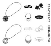 wedding rings  cuff links ...   Shutterstock .eps vector #1065519983