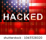 hacked american flag meaning... | Shutterstock . vector #1065528320