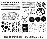 set of hand drawn grungy... | Shutterstock .eps vector #1065528716