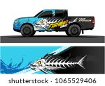 truck graphic. cartoon of angry ... | Shutterstock .eps vector #1065529406