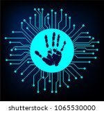 safety concept  cyber security  ... | Shutterstock .eps vector #1065530000