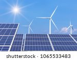 rows array of  polycrystalline... | Shutterstock . vector #1065533483