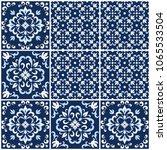 blue and white ornate... | Shutterstock .eps vector #1065533504