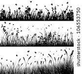 grass silhouette background set.... | Shutterstock . vector #106553750