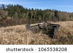 wreck of a small boat on the... | Shutterstock . vector #1065538208