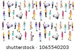 isometric business people... | Shutterstock .eps vector #1065540203