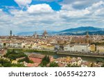 skyline with cathedral of... | Shutterstock . vector #1065542273