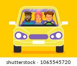 carpool. car sharing concept... | Shutterstock .eps vector #1065545720