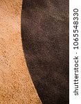 front and back of real brown... | Shutterstock . vector #1065548330