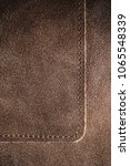 real natural brown leather... | Shutterstock . vector #1065548339