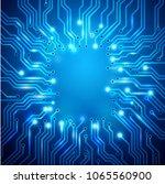 circuit board background ... | Shutterstock .eps vector #1065560900