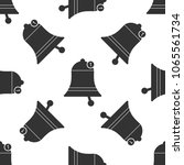 bell icon seamless pattern on...