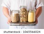multi grain porridge barley... | Shutterstock . vector #1065566024
