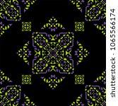 decorative hand drawn seamless... | Shutterstock .eps vector #1065566174