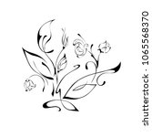 stylized flowers on a white... | Shutterstock .eps vector #1065568370
