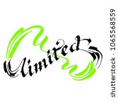 unlimited lettering calligraphy | Shutterstock .eps vector #1065568559
