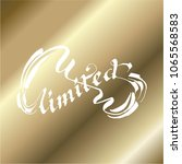 unlimited lettering calligraphy | Shutterstock .eps vector #1065568583