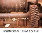 rusty mechanism. rust bolts and ... | Shutterstock . vector #1065572510