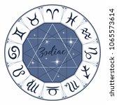 zodiac. signs. astrological... | Shutterstock .eps vector #1065573614