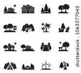 landscape icons. black flat... | Shutterstock .eps vector #1065577043