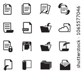 documents icons. black flat... | Shutterstock .eps vector #1065577046