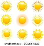 set of glossy sun images.... | Shutterstock .eps vector #106557839