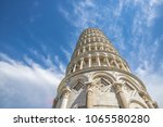leaning tower of pisa  italy ... | Shutterstock . vector #1065580280