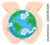 earth day  happy planet... | Shutterstock .eps vector #1065581684