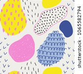 seamless pattern with brush...   Shutterstock .eps vector #1065582794