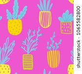 seamless pattern with flowers...   Shutterstock .eps vector #1065582800