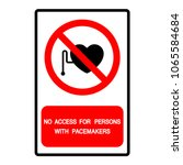 no access for persons with...   Shutterstock .eps vector #1065584684