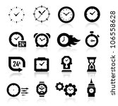 24,alarm,black,circle,clock,clock face,collection,digital,fast,gear,hours,icons,illustration,instrument of time,interface
